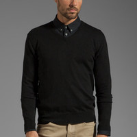 Shades of Grey by Micah Cohen V Neck Sweater in Black from REVOLVEclothing.com