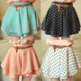 Chiffon Dot Short Mini Skirt with belt [266]