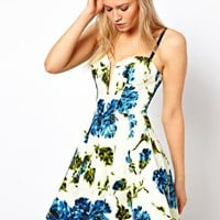 ASOS Full Circle Dress With Floral Print at asos.com