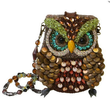 MARY FRANCES 1920's Style Night Owl Beaded Handbag