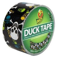 Duck Brand 280422 Skulls Printed Duct Tape (Single Roll), Black/Multicolor, 1.88-Inch by 10 Yards - Amazon.com