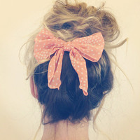 Bow Head Hair Clip for Messy Haired Dames