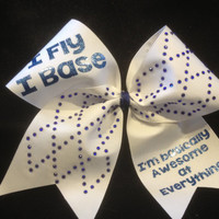 I'm awesome cheer bow