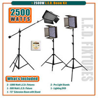 "2500W LED 3 Light Kit w/ 84"" Extension Boom"