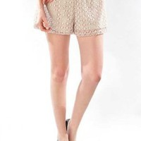 G2 Chic All Over Lace Elastic Shorts(BTM-SHT,BLK-S)