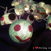 Keroro cotton dolls String Lights For Wedding and House decoration (20 balls/Set)