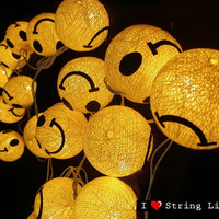 Smile cotton dolls String Lights For Wedding and House decoration (20 balls/Set)