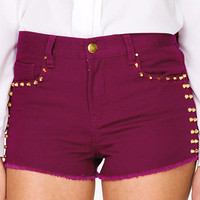 Bolted Stud Denim Shorts | FOREVER 21 - 2022808401