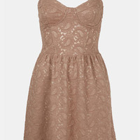 Topshop Lace Bustier Dress | Nordstrom