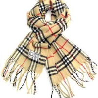 Amazon.com: Classic Plaid Tassel Ends Long Scarf, Cashmere Feel Unisex Pashmina Scarf: Clothing