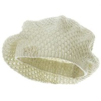 Amazon.com: Silver Lurex Lady Beret - Ivory W08S68D: Clothing