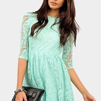 Lace Queen Dress - Mint