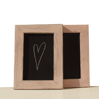 Shabby Rose Pink Set of 2 Framed Chalkboards with by byAnnoDomini