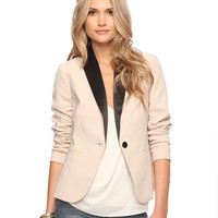 Contrast Shawl Collar Jacket | FOREVER21 - 2015036150