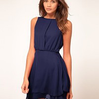 ASOS | ASOS Sleeveless Mini Dress With Double Skirt at ASOS