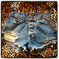 Dex vintage high waited denim destroyed studded by mollicz13