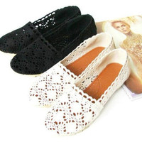Crochet  flower bud leisure shoes flat-bottom [20]
