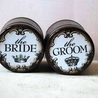 The Bride The Groom Ring Boxes Set of 2 by Mmim on Etsy