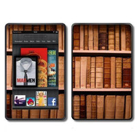 Kindle Fire Vinyl Decal Wrap / Skin  Old Library Books by ItsASkin