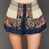 Free People Color Between Borders Smocked Skort