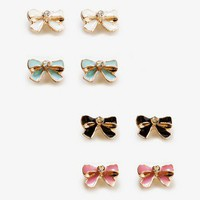Lacquered Bow Stud Set