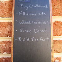 Reclaimed Oak Chalkboard Tablet  Large by TimberWoodsWares on Etsy