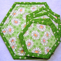 Trivet Set, Hot Pad, Small w/ 4 Coasters, Matching Set, Candle Mat