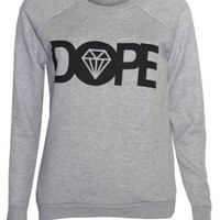 Womens Dope Sweater Jumper Top (4/6 (UK8/10), GREY)
