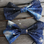 Galaxy Printed Hair Bow by BiancaParisTaylor