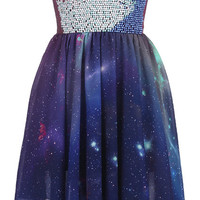 Beaded Bandeau Galaxy Dress