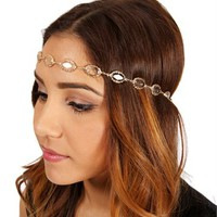 Gold Gemstone Stretch Headband