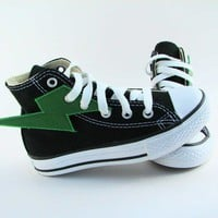 Superhero Shoes Green Lightning by smallfly on Etsy