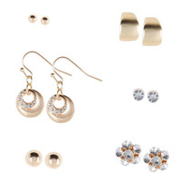 Payless, Women's (6 pk) Stud, Hoop and Dangle Earring Set, Women's, Accessories