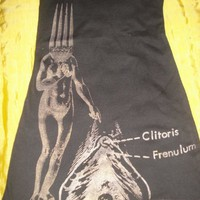 ForkHead Lady Pointing to a Clitoris Tank Top