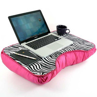 Medium Hot Pink Zebra Kids Lap Desk by LapDeskLady on Etsy