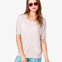 Heathered Dolman Tee
