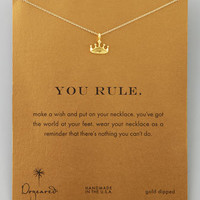 Golden You Rule Crown Pendant Necklace