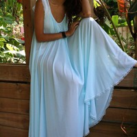 Tiffany Blue Nightgown Full Sweep Nylon Angelic by SarafinaDreams