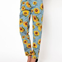 Joyrich Sunflower Print High Waisted Boyfriend Jeans at asos.com