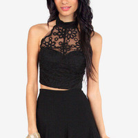 Reverse Look Me in the Eyelet Bustier $42