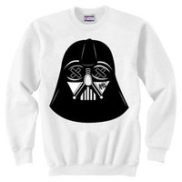 SLOTH Vader White Crew Neck Sweater