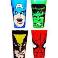 Gift Idea: Marvel Tumbler Glasses (Set of 4)