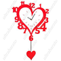 (T-WEID) Wooden Heart Shaped Mute Pendulum Number Art Wall Clock (1 x AA) from UltraBarato Gadgets