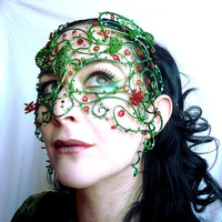 midsummer ladies masquerade mask, handmade