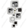 (T-WEID) Artistic Wall Clock Wag-on-the-wall Hanging Clock Timekeeper for Home Office - Photo Frame Design from UltraBarato Gadgets