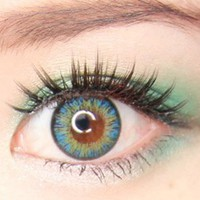 NEO Vision Shimmer Aqua circle lens - cosmetic colored contact lenses | EyeCandy's