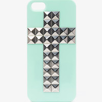 Contrast Studded Cross Phone Case | FOREVER 21 - 1051245980