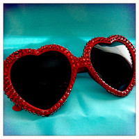 Rhinestone Heart Sunglasses