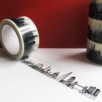 London Skyline Decorative Sticky Tape (50mm)