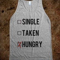 Just Hungry-Unisex Athletic Grey Tank